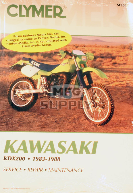 CM351 - 83-88 Kawasaki KDX200 Repair & Maintenance manual