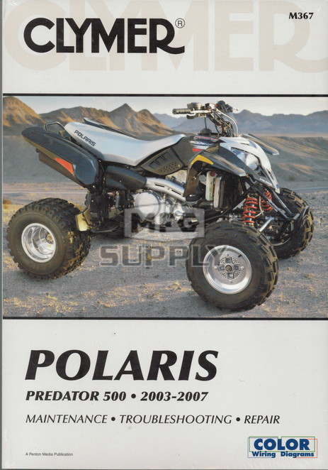 CM367 - 03-07 Polaris Predator 500 Repair & Maintenance manual.