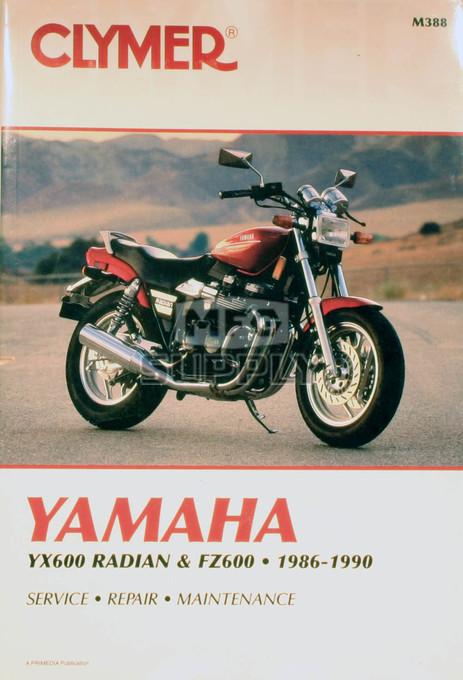 CM388 - 86-90 Yamaha YX600 Radian & FZ600 Repair & Maintenance manual