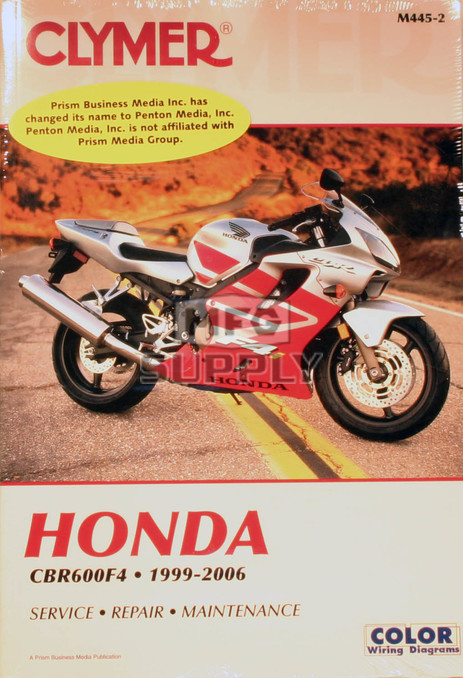 CM445 - 99-06 Honda CBR600F4 Repair & Maintenance manual