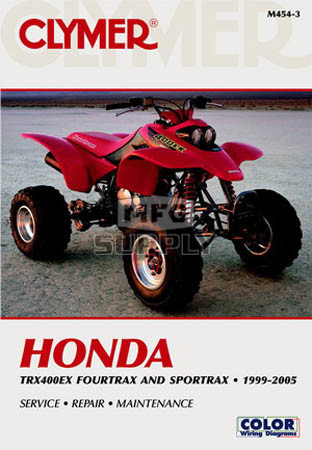 99-05 Honda TRX400EX Fourtrax/SporTraxRepair & Maintenance manual. on