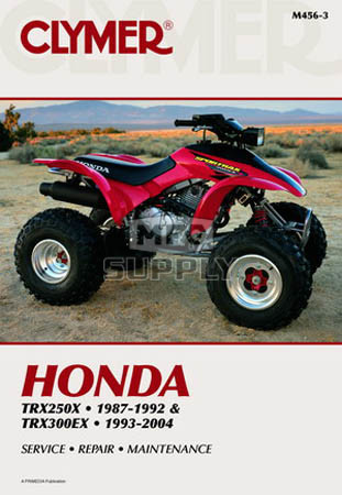 CM456 - 87-06 Honda TRX250X,93-04 TRX300EX  Repair & Maintenance manual.