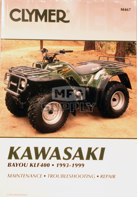 CM467 - 93-99 Kawasaki KLF400 Bayou Repair & Maintenance manual.