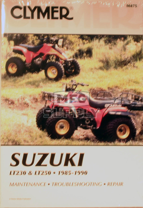CM475 - 85-88 Suzuki LT/LTF230G/S. 89-90 LT250S Repair & Maintenance manual.