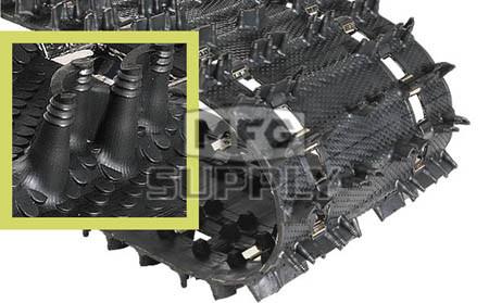 "9052H - 1.352"" Camoplast Hi-Performance Cobra Trail Track. 15"" x 121"""