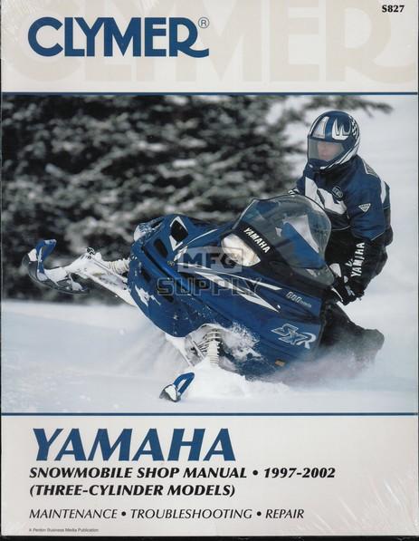 CS827 - 97-02 Yamaha Snowmobile Shop Manual (3-cylinder models)