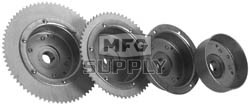 """AZ2268-OD - 4-1/2"""" Drums with Riveted Hubs 72 Tooth Sprocket - Machined OD"""