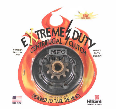 """H5841 - Hilliard Extreme Duty Centrifugal Clutch. 5/8"""" bore, 10 tooth, 40/41 chain"""