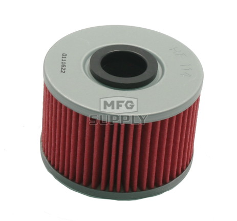 HF114 - Oil Filter for many Honda TRX420 Rancher ATVs