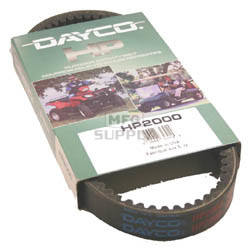 HP2000 - Dayco High Performance ATV Belt. Fits 02 Arctic Cat 375 Auto, 03 & newer Arctic Cat 400 Auto, 07 DVX 400