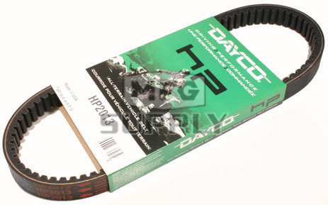 HP2013 - Dayco High Performance Belt. Replaces 27077-G02 belt on 92-94 E-Z Go Gas Golf Carts.