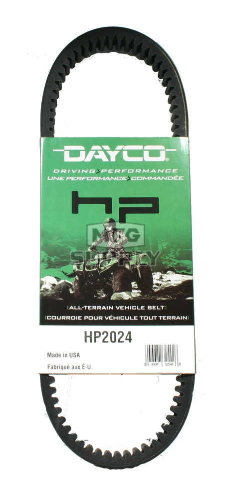 HP2024 - Dayco High Performance Utility Vehicle Belt. Fits Kawasaki Mule 1000/2010/2020/2030