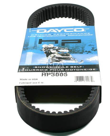 HP3005 - Arctic Cat Dayco HP (High Performance) Belt. Fits many 87-89 Arctic Cat Snowmobiles.