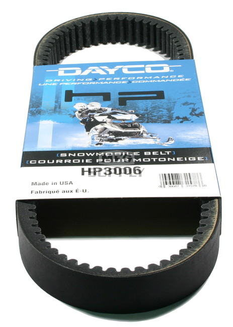 HP3006 - Arctic Cat Dayco HP (High Performance) Belt. Fits many 73-81 Arctic Cat Snowmobiles.