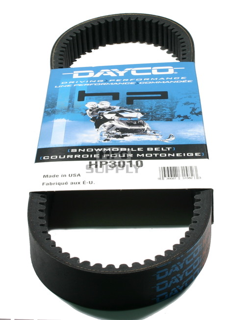 HP3010 - Polaris Dayco HP (High Performance) Belt. Fits 72-82 low power Polaris Snowmobiles.