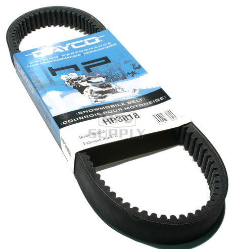 HP3018-W3 - Rupp Dayco HP (High Performance) Belt. Fits 76-80 Rupp Snowmobiles.