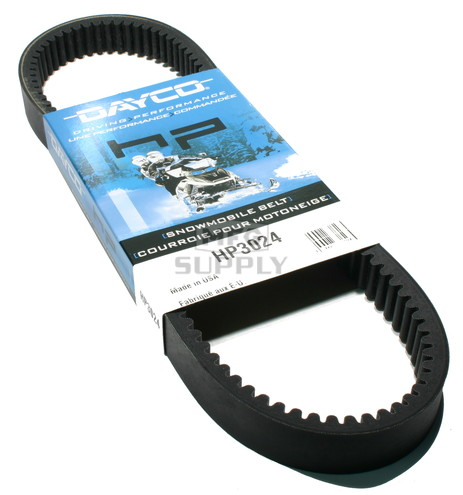 HP3024 - Polaris Dayco HP (High Performance) Belt. Fits 82-90 low power Polaris Snowmobiles.