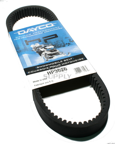 HP3026 - Arctic Cat Dayco HP (High Performance) Belt. Fits low power 85-91 Arctic Cat Snowmobiles.