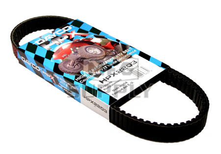 HPX2203 - Polaris Dayco HPX (High Performance Extreme) Belt. Fits most Polaris ATV, except 600 & 700cc models.