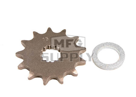 KS003442 - Suzuki ATV 13 tooth front sprocket. Fits 85-92 LT250R/S QuadRacer