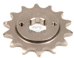 KS003741 - Honda ATV 14 tooth front sprocket. Fits 83-86 ATC250R & 86-89 TRX250R.