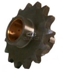 KS003821 - Honda ATV 15 tooth front sprocket. Fits: 74-78 ATC90, & 79-83 ATC110.