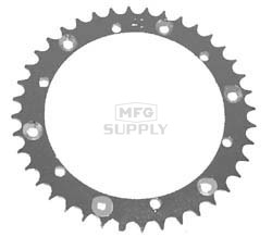 KS004883 - Yamaha ATV 40 tooth rear sprocket. Fits Blaster, Banshee, Raptor, more