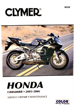 cm220 03 06 honda cbr600rr repair maintenance manual rh mfgsupply com 2006 honda cbr 600 service manual pdf 2006 honda cbr600rr owners manual