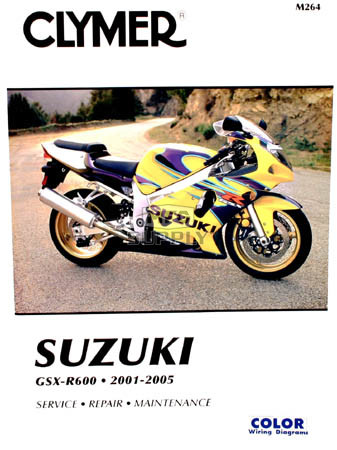 CM264 - 01-05 Suzuki GSX-R600 Repair & Maintenance manual