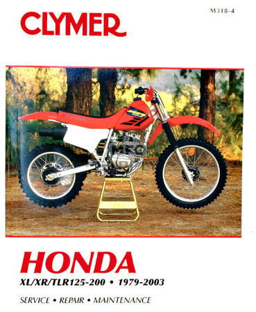 CM318 - 79-03 Honda XL125-200, XR125-200, TLR125-200 Repair & Maintenance manual