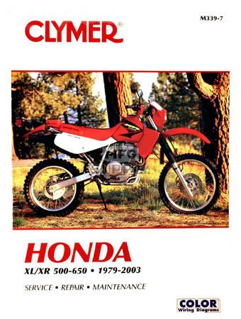 CM339 - 79-90 Honda XL500-600, XR500-600 Repair & Maintenance manual