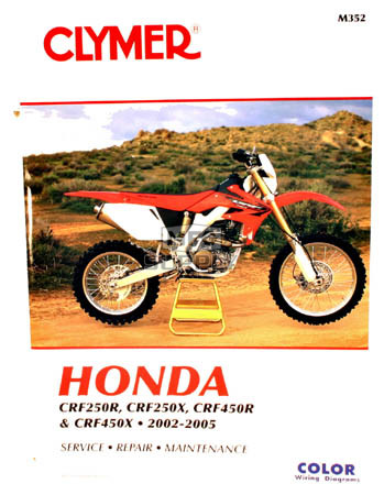 CM352 - 02-05 Honda CRF250R, CRF250X, CRF450R, & CRF450X Repair & Maintenance manual