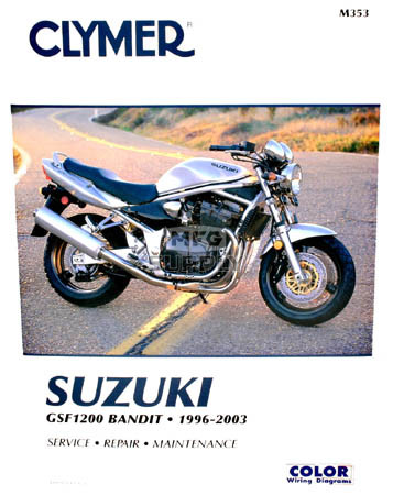 CM353 - 96-03 Suzuki GSF1200 Bandit Repair & Maintenance manual