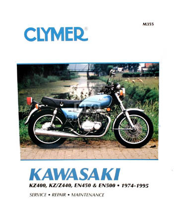 CM355 - 74-95 Kawasaki KZ400, KZ440, KZZ440, EN450, & EN500 Repair & Maintenance manual