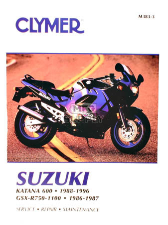 CM383 - 88-96 Suzuki GSX600F Katana & 86-87 GSX-R750, GSX-R1100 Repair & Maintenance manual