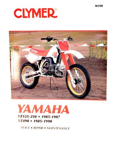 CM390 - 85-87 Yamaha YZ125, YZ250 & 85-90 YZ490 Repair & Maintenance manual