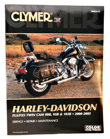 CM423 - 00-05 Harley Davidson FLS, FXS Twin Cam 88 & 103B Repair & Maintenance manual