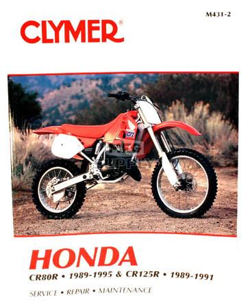 CM431 - 89-95 Honda CR80R & 89-91 CR125R Repair & Maintenance manual
