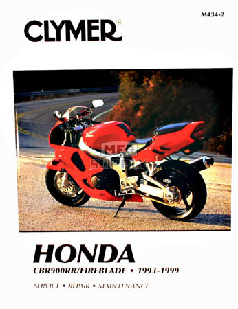 CM434 - 93-99 Honda CBR900RR Fireblade Repair & Maintenance manual