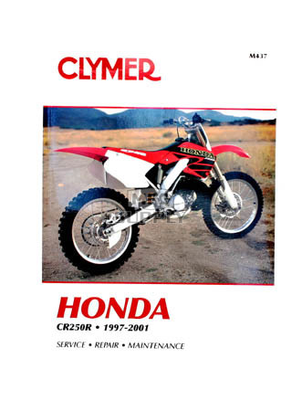 CM437 - 97-01 Honda CR250R Repair & Maintenance manual