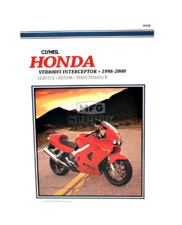 CM438 - 98-00 Honda VFR800FI Interceptor Repair & Maintenance manual