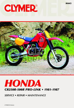 CM443 - 81-87 Honda CR250R-500R Pro-Link Repair & Maintenance manual