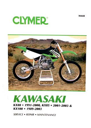 cm448 89 03 kawasaki kx80 kx85 kx100 repair maintenance rh mfgsupply com Kawasaki KM 100 Kawasaki KM 100