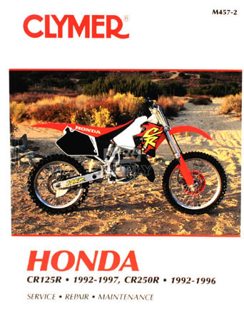 CM457 - 92-97 Honda CR125R & 92-96 CR250R Repair & Mainteance manual