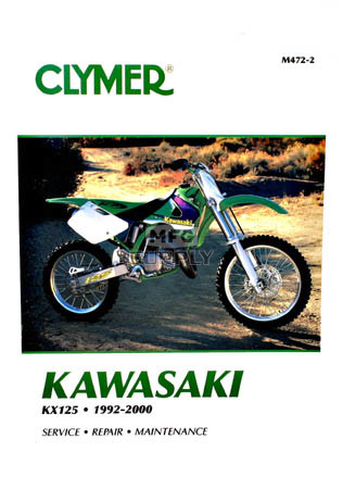 CM472 - 92-00 Kawasaki KX125 Repair & Maintenance manual