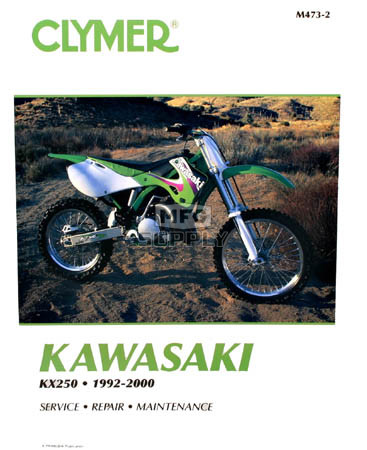 cm473 92 00 kawasaki kx250 repair maintenance manual rh mfgsupply com 2002 kawasaki kx250 service manual kawasaki kx 250 service manual pdf