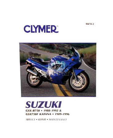 CM478 - 88-92 Suzuki GSX-R750 & 89-96 GSX750F Katana Repair & Maintenance manual