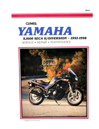 CM494 - 92-98 Yamaha XJ600 Seca II, Diversion Repair & Maintenance manual