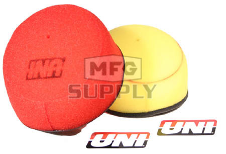 NU-3230ST - Uni-Filter Two-Stage Air Filter. For Yamaha 93-05 YZ125, 93-05 YZ250, 01-05 YZ250F, 98-05 YZ400/426/450F