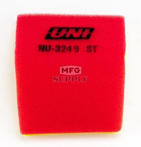 NU-3249ST - Uni-Filter Two-Stage Air Filter. For many Yamaha YFM100 Champ, Raptor 50, Badger 80, Grizzly 80, Raptor 80 ATV